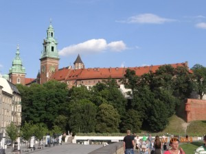 Krakau mit Blick auf die Altstadt.