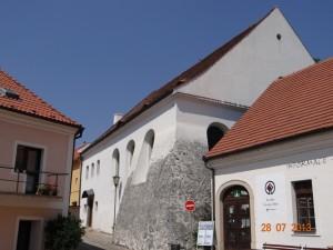 Synagoge im jüdischen Viertel in Trebic.