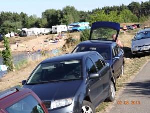 """Die Kunst zu leben? Tschechien während der Hitzewelle i August 2014. Die Elbe als """"Elborado"""" für die Aufgeheizten."""