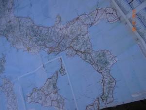 Hier ein kleiner Überblick über unsere Reiseroute: von Marotta, ca. 40 Km nördlich von Ancona nach Süden an der adriatischen Ostküste entlang bis hinunter um den Absatz herum und wieder nach Norden bis Taranto.