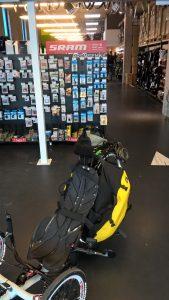 Mein Trike bei JOOS in Radolfzell, nach der Frischzellenkur mit neuem Shimano-Schaltwerk