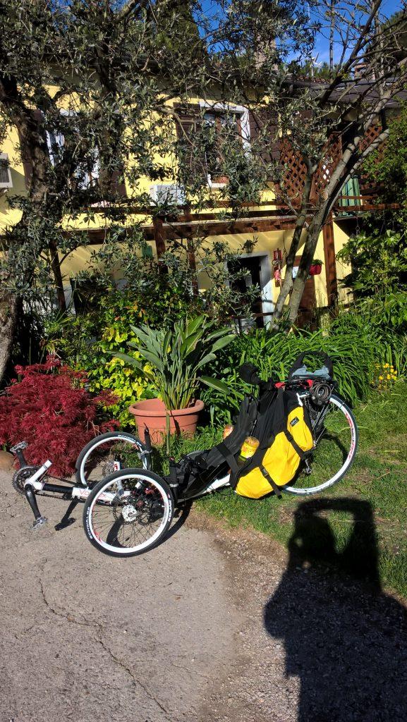 Endlich am Campingplatz meines Freundes in San Felice del Benaco